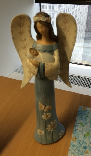 Sweet angel statue